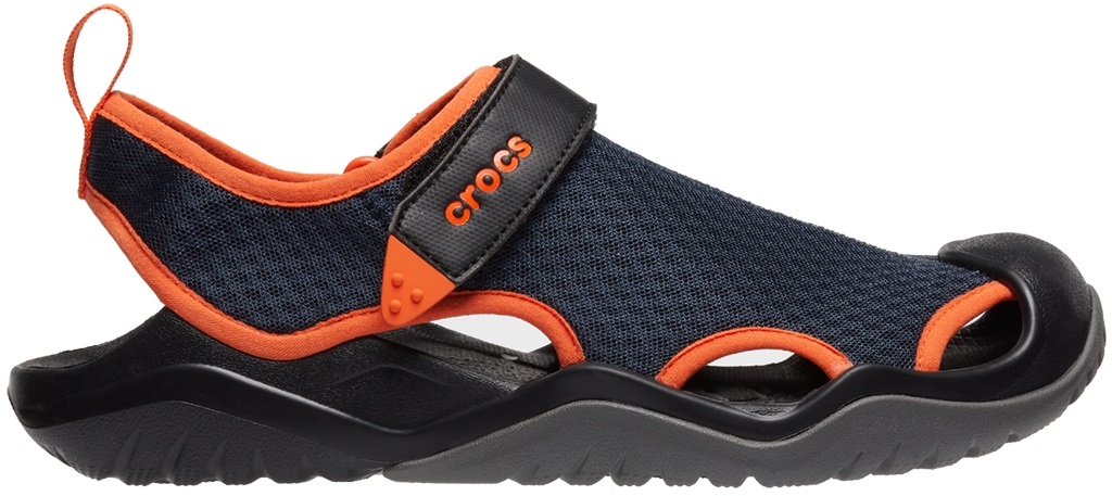 Crocs™ Swiftwater Mesh Deck Sandal Men's Navy/Tangerine 44,5