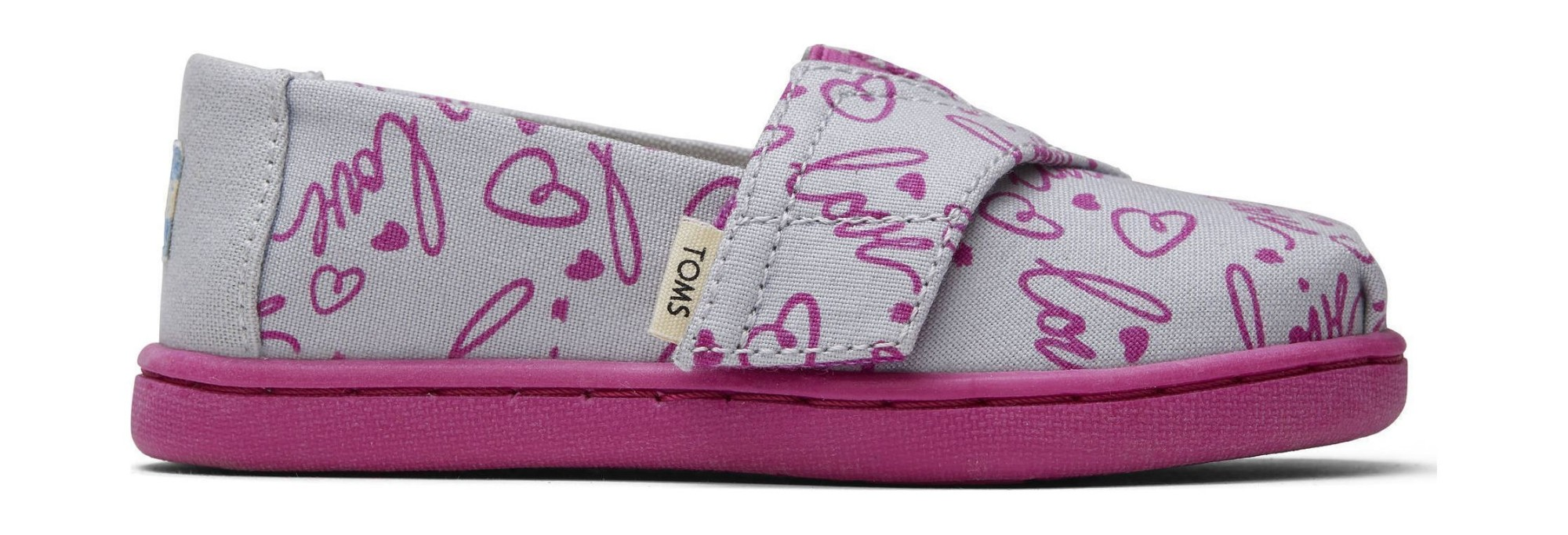 TOMS Love Print Kid's Alpargata Grey 24,5