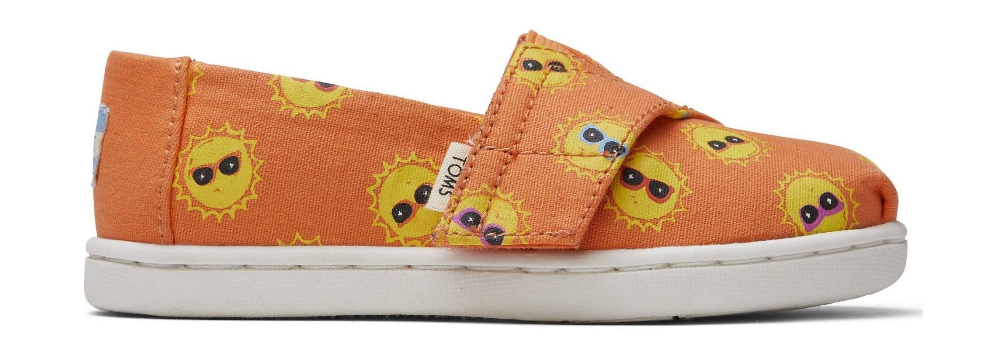 TOMS Coral Shades For Days Print Kid's Alpargata Orange 23,5