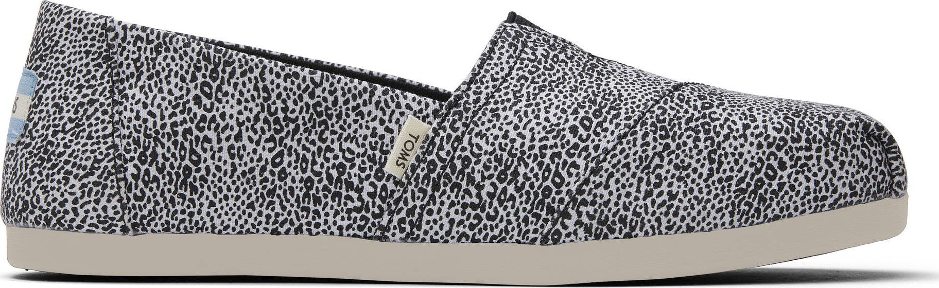 TOMS Mini Leopard Print Canvas Women's Alpargata White 37,5