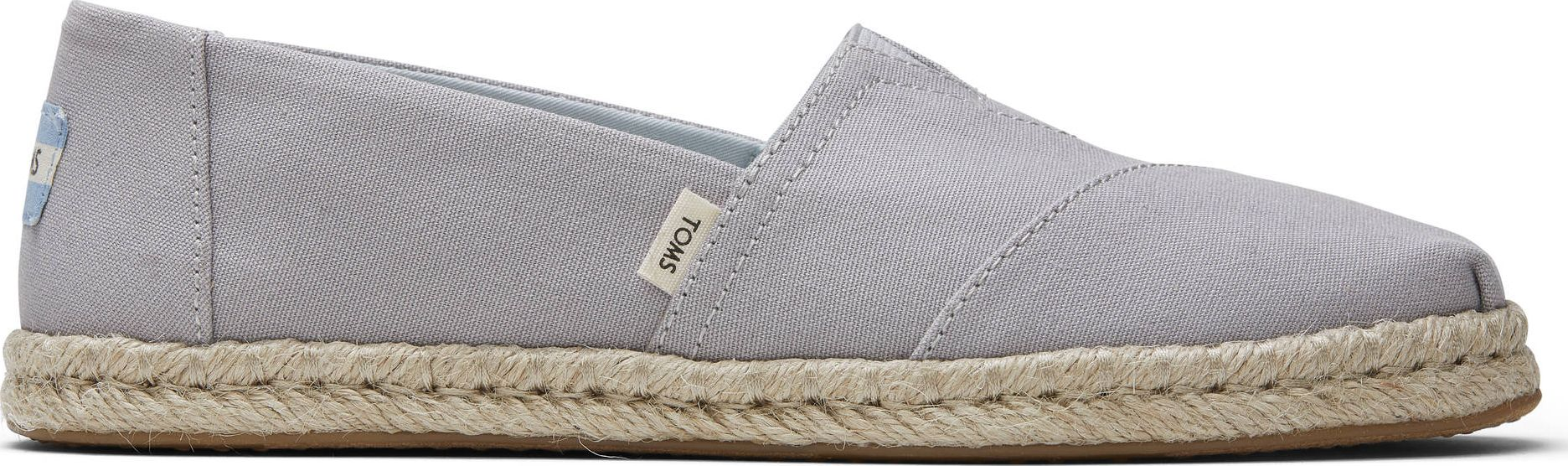 TOMS Plant Dyed Canvas Rope Women's Alpargata Grey 40