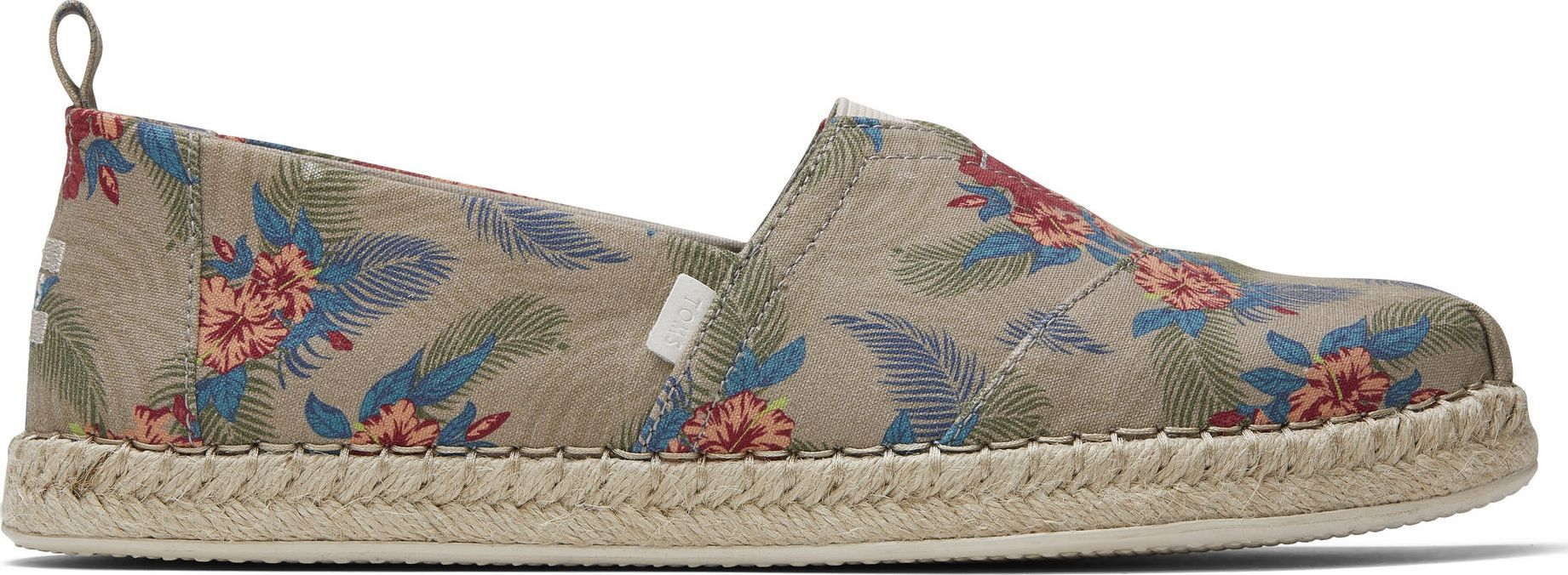 TOMS Oxford Tropical Print Men's Alpargata Natural 46