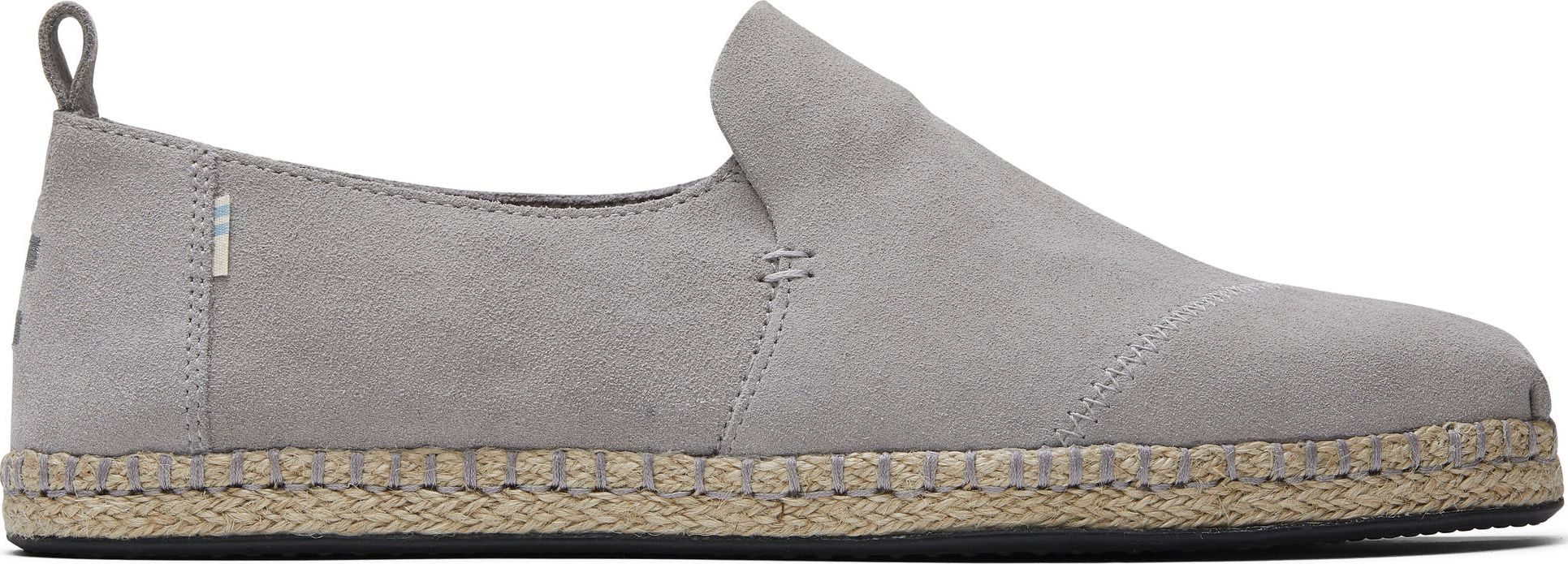 TOMS Suede Men's Deconstructed Alpargata Rope Grey 42