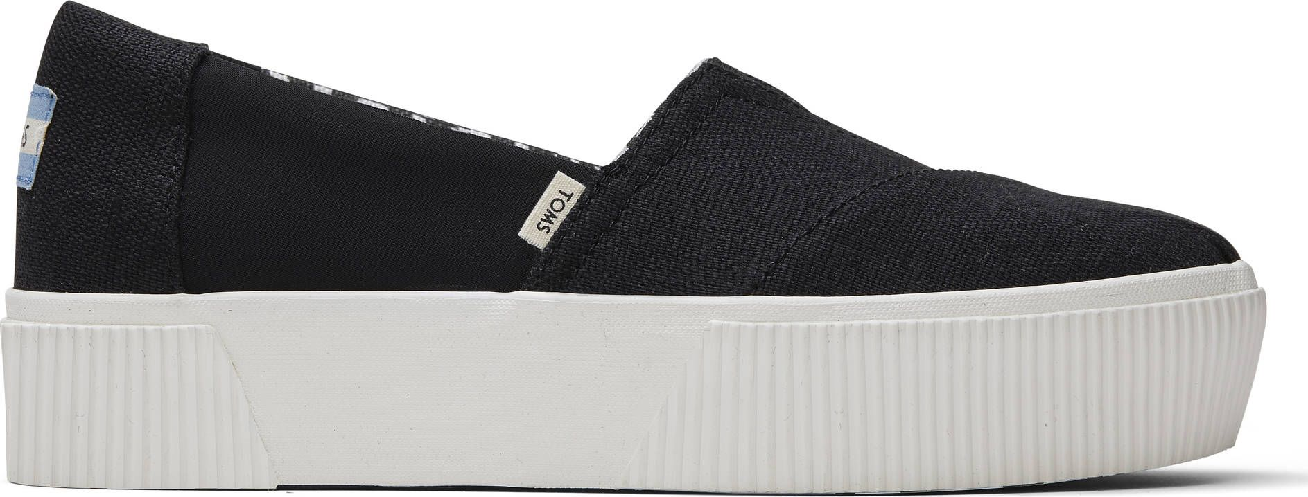 TOMS Heritage Canvas Women's Alpargata Boardwalk Black 38