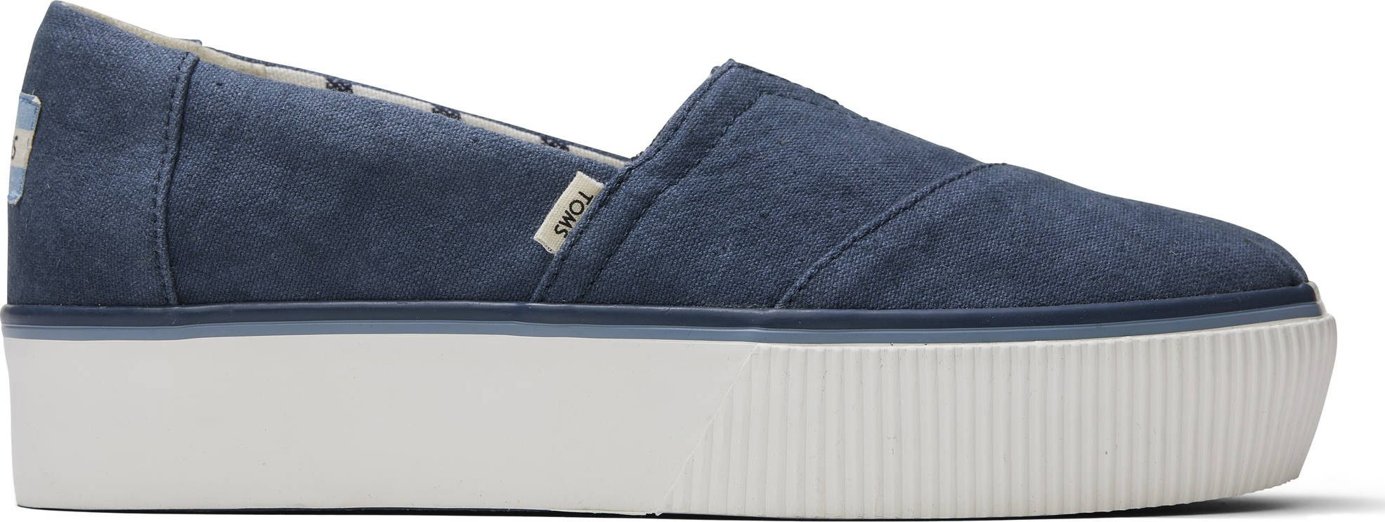 TOMS Vintage Canvas Women's Alpargata Boardwalk Blue 40