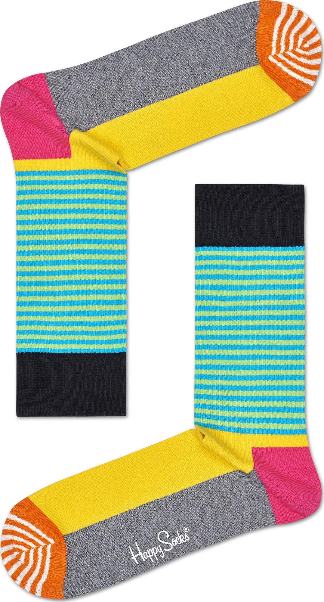 Happy Socks Half Stripe Multi 9700 36-40