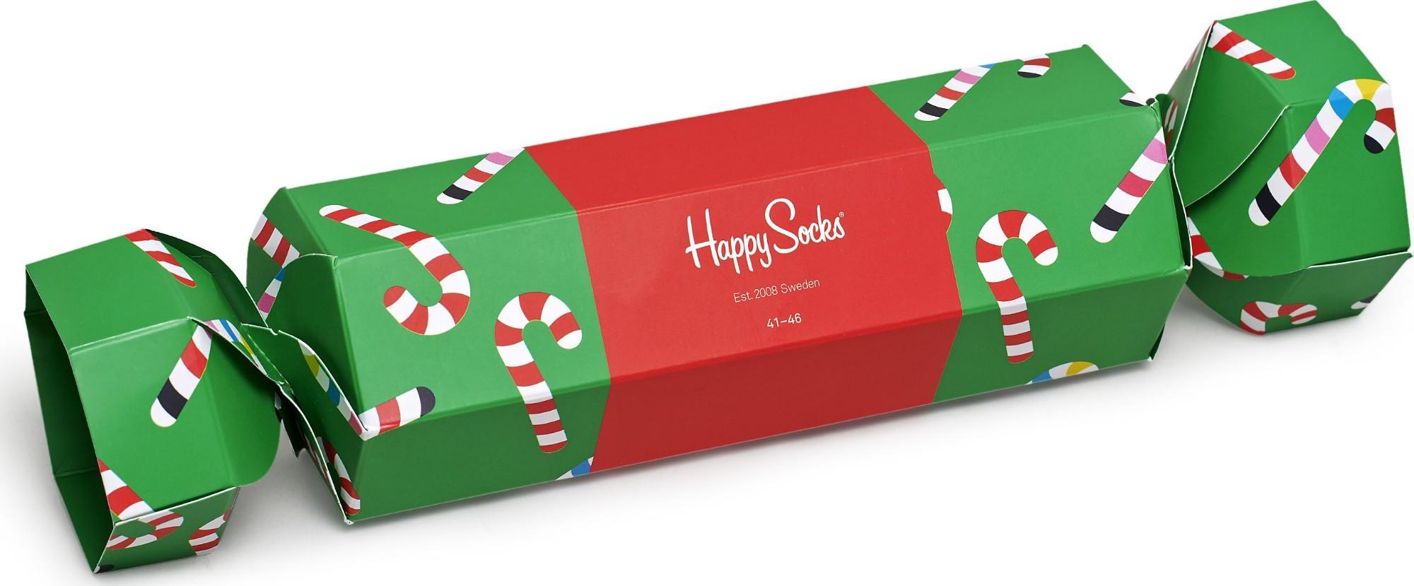 Happy Socks Christmas Cracker Candy Cane Gift Box Multi 7302 41-46