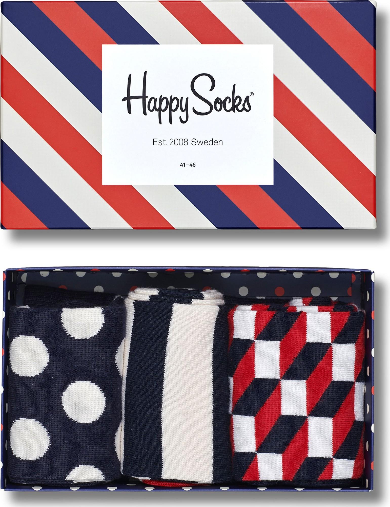 Happy Socks Classic Stripe Gift Box Multi 6000 41-46
