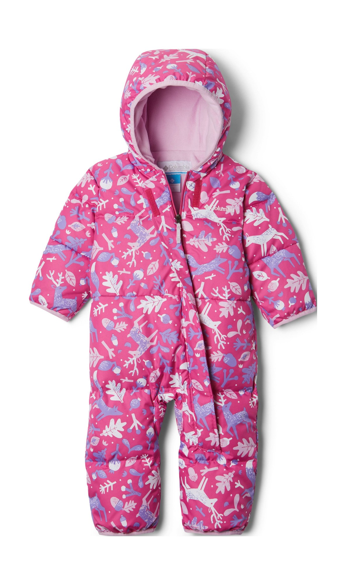 Columbia Snuggly Bunny Bunting Pink Ice Reindeer/Pink Clover 86