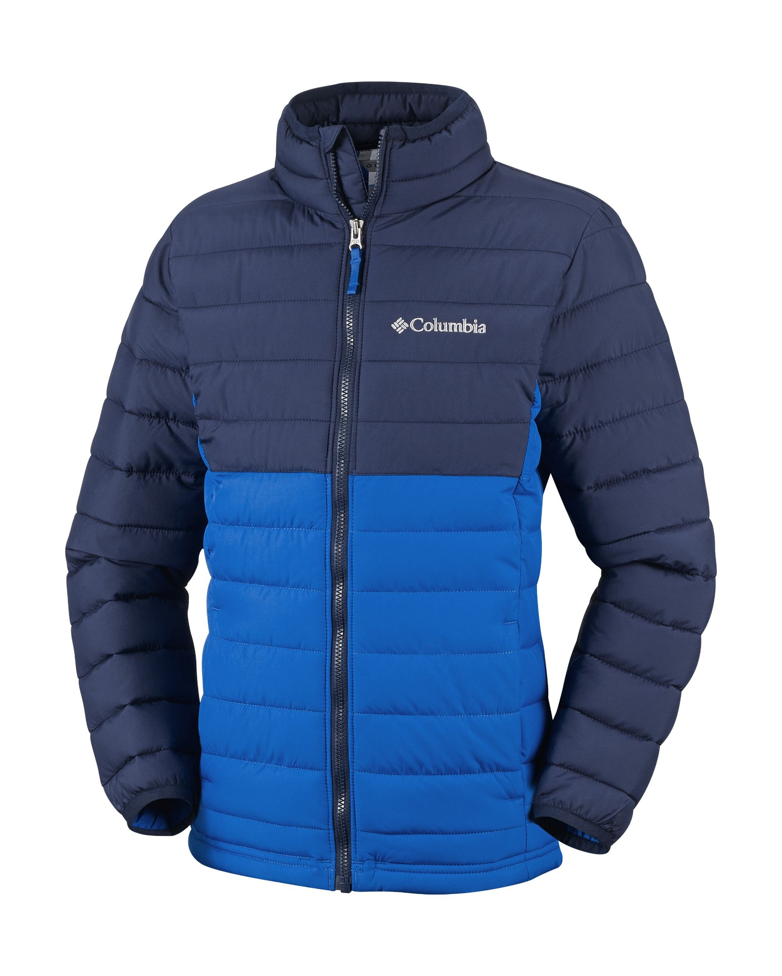 Columbia Powder Lite Boys Jacket Super Blue/Collegiate Navy M