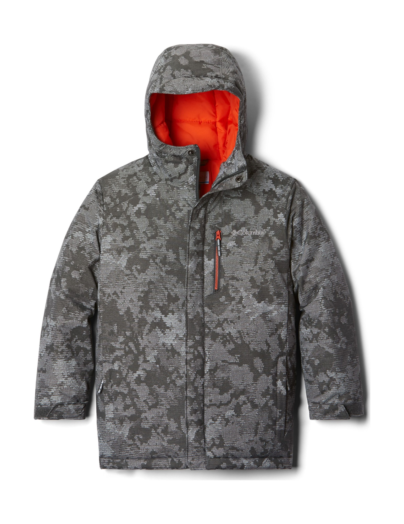 Columbia Alpine Free Fall II Jacket Grill Continents Camo L