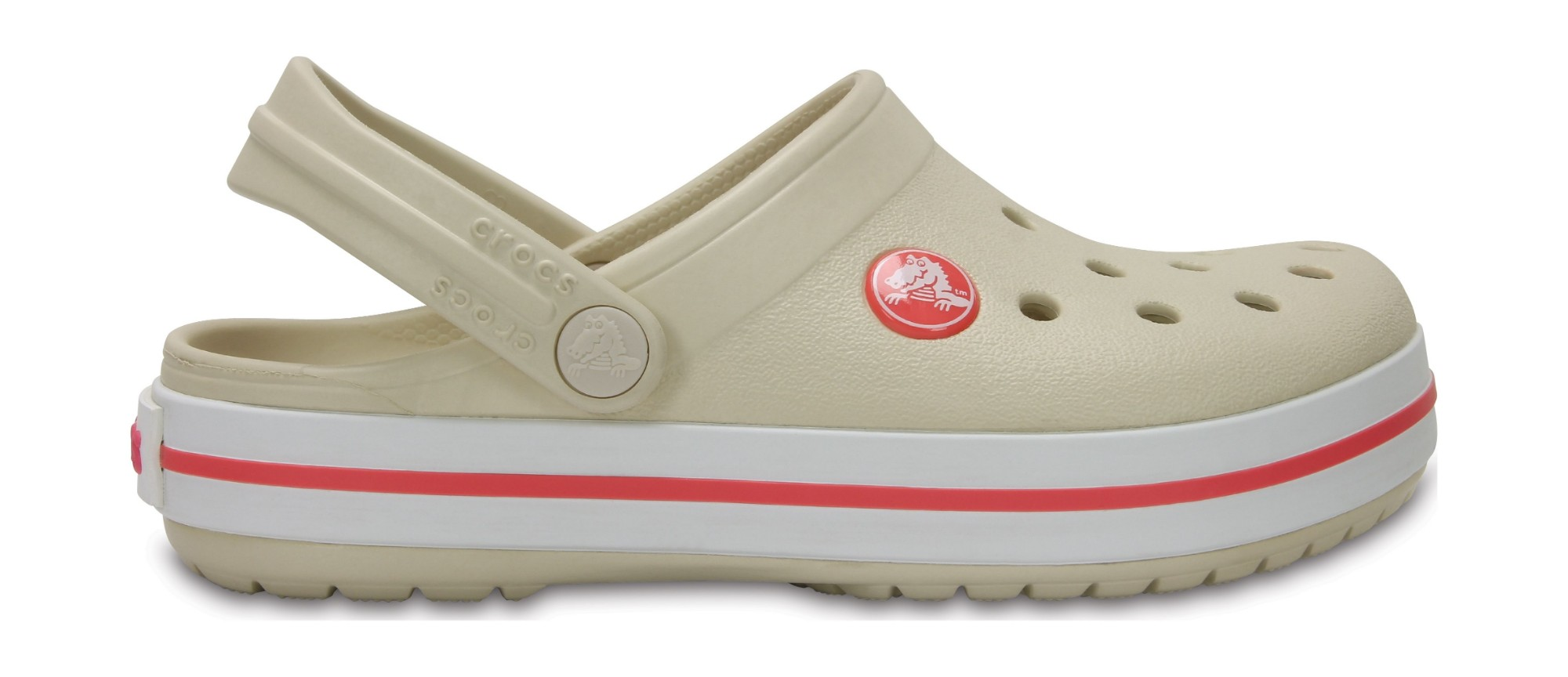 Crocs™ Kids' Crocband Clog Stucco/Melon 23