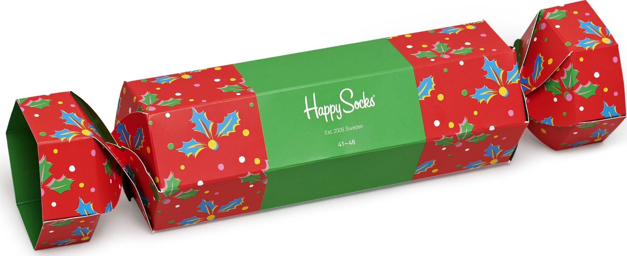 Happy Socks Christmas Cracker Holly Gift Box Multi 4300 41-46