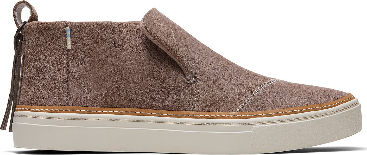 TOMS Water Resistant Suede Women's Paxton Taupe Gray 39