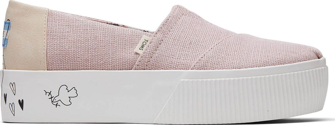 TOMS Heritage Canvas Women's Alpargata Boardwalk Cameo Rose 39