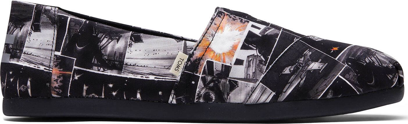 TOMS Starwars Darth Print Men's Alpargata 3.0 Black 46