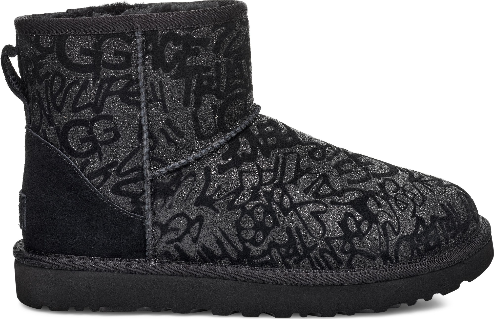 UGG Classic Mini Sparkle Graffiti Black 39