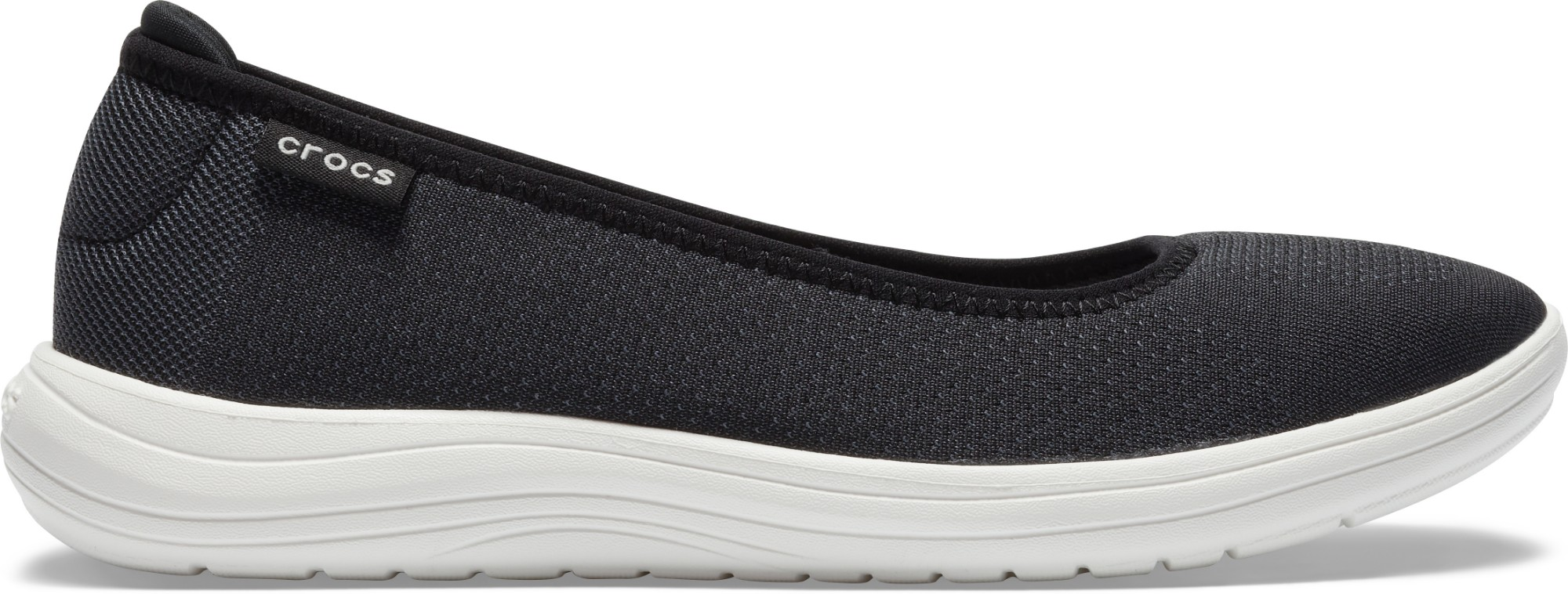 Crocs™ Reviva Flat Women's Black/White 35