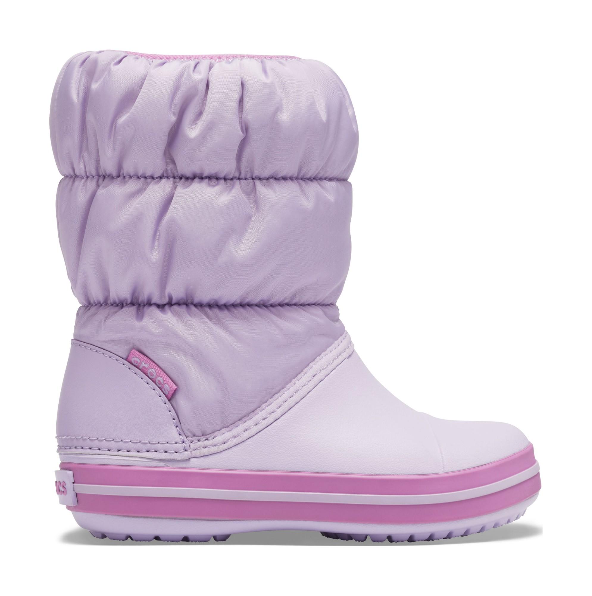 Crocs™ Kids' Winter Puff Boot Lavender 28