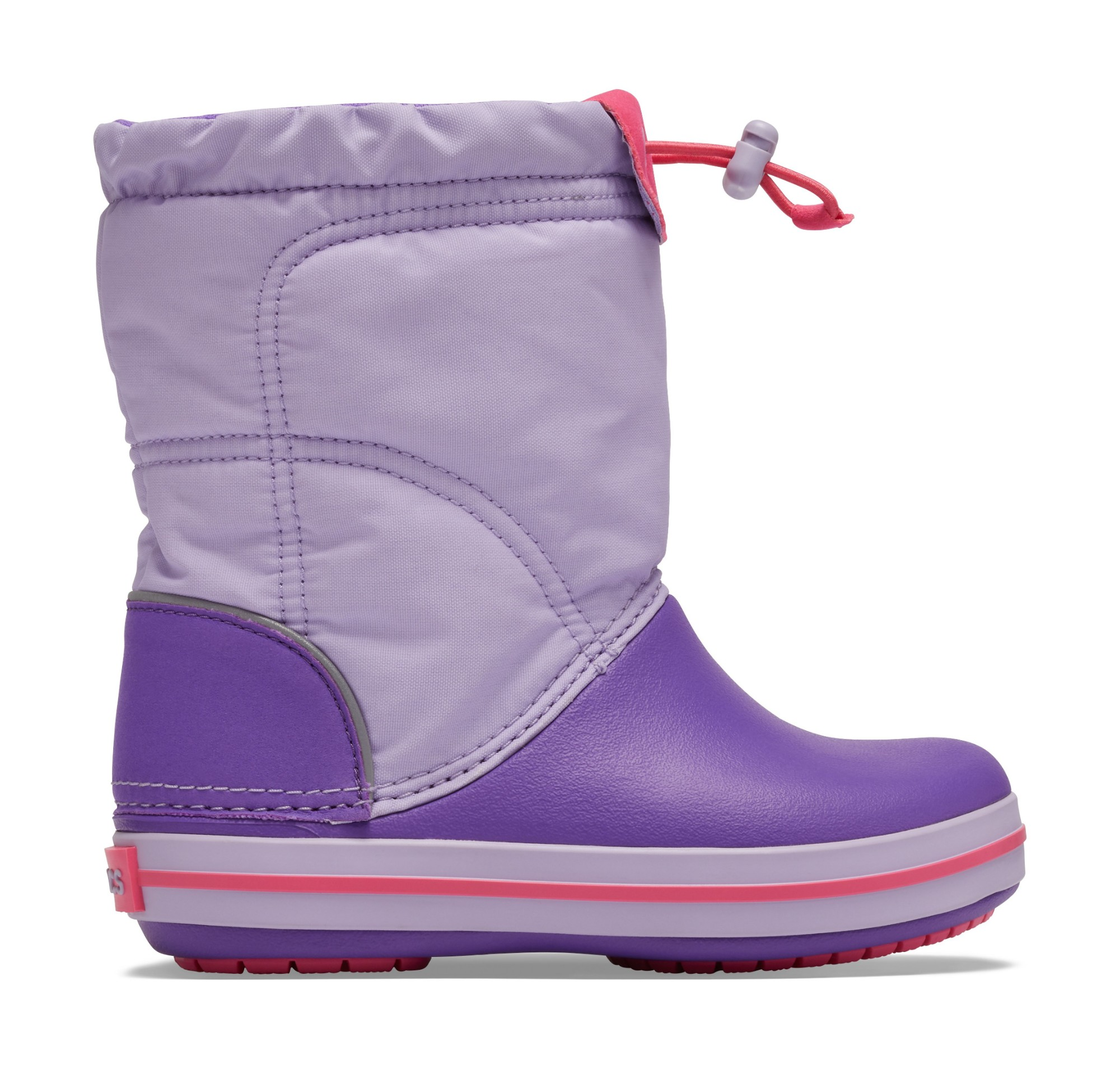 Crocs™ Kids' Crocband Lodgepoint Boot Lavender/Neon Purple 26
