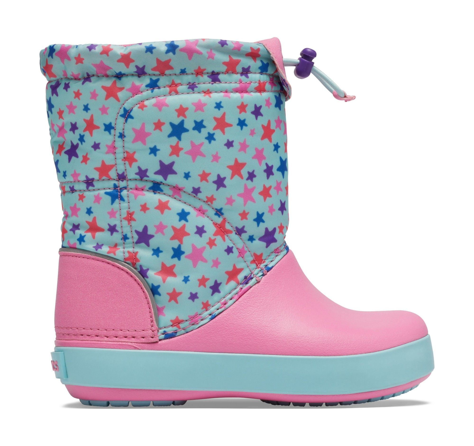 Crocs™ Crocband LodgePoint Graphic Winter Boot K Ice Blue/Pink Lemonade 29