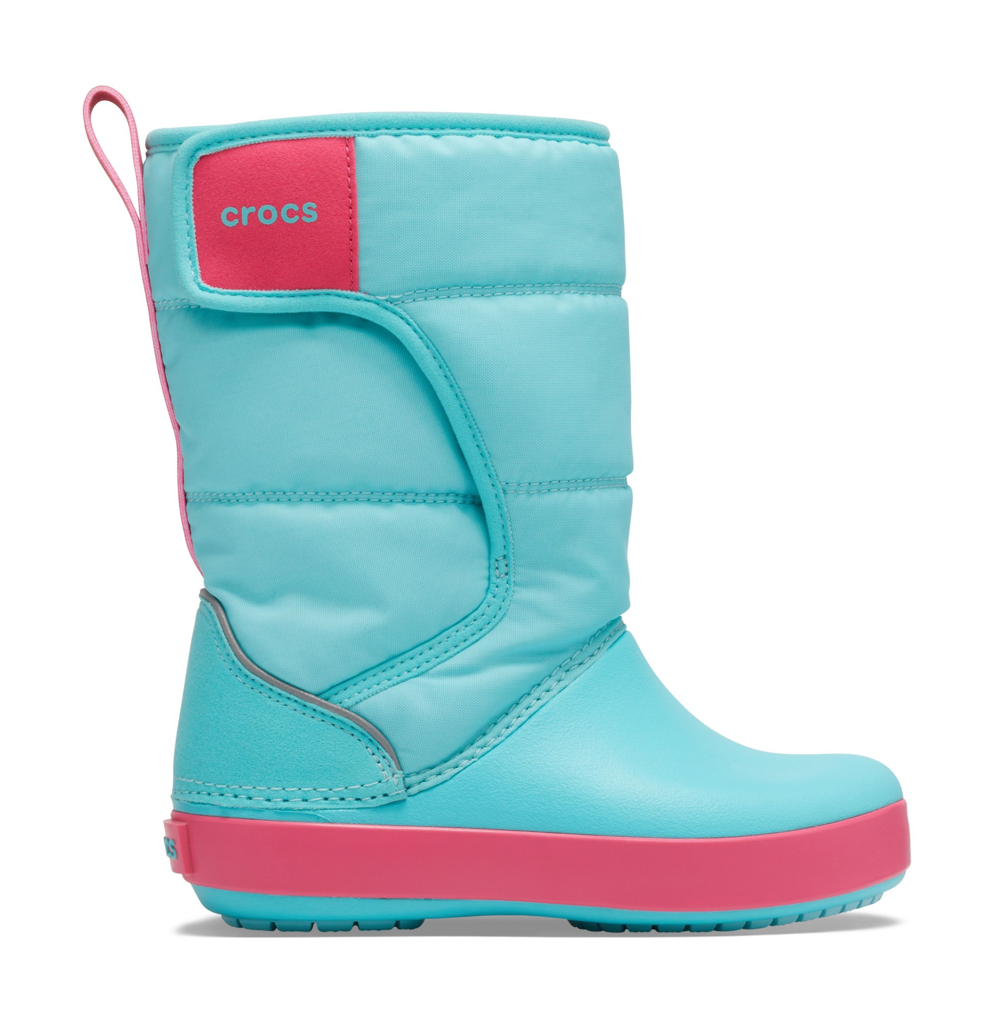 Crocs™ Lodgepoint Snow Boot Kid's Ice Blue/Pool 25