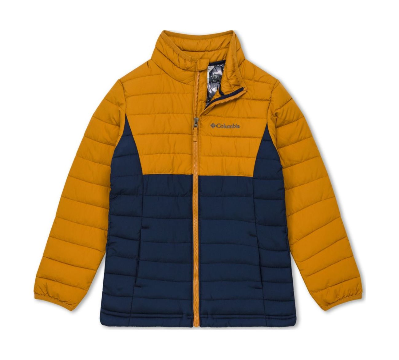 Columbia Powder Lite Boys Jacket Collegiate Navy/Canyon Gold 128