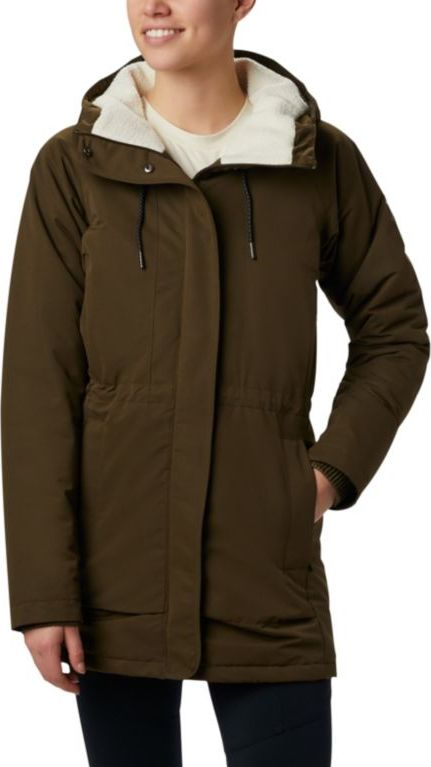 Columbia South Canyon Sherpa Lined Jacket Olive Green M