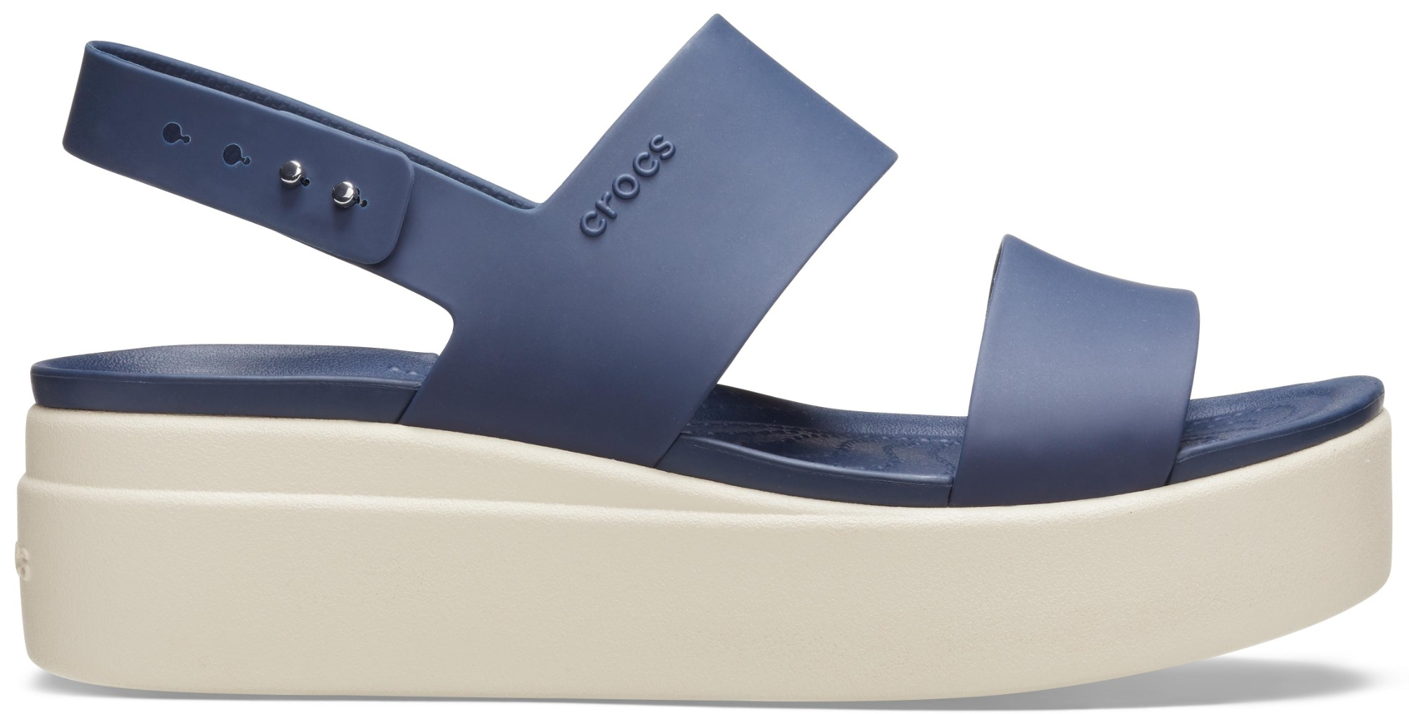 Crocs™ Brooklyn Low Wedge Womens Navy/Stucco 42,5