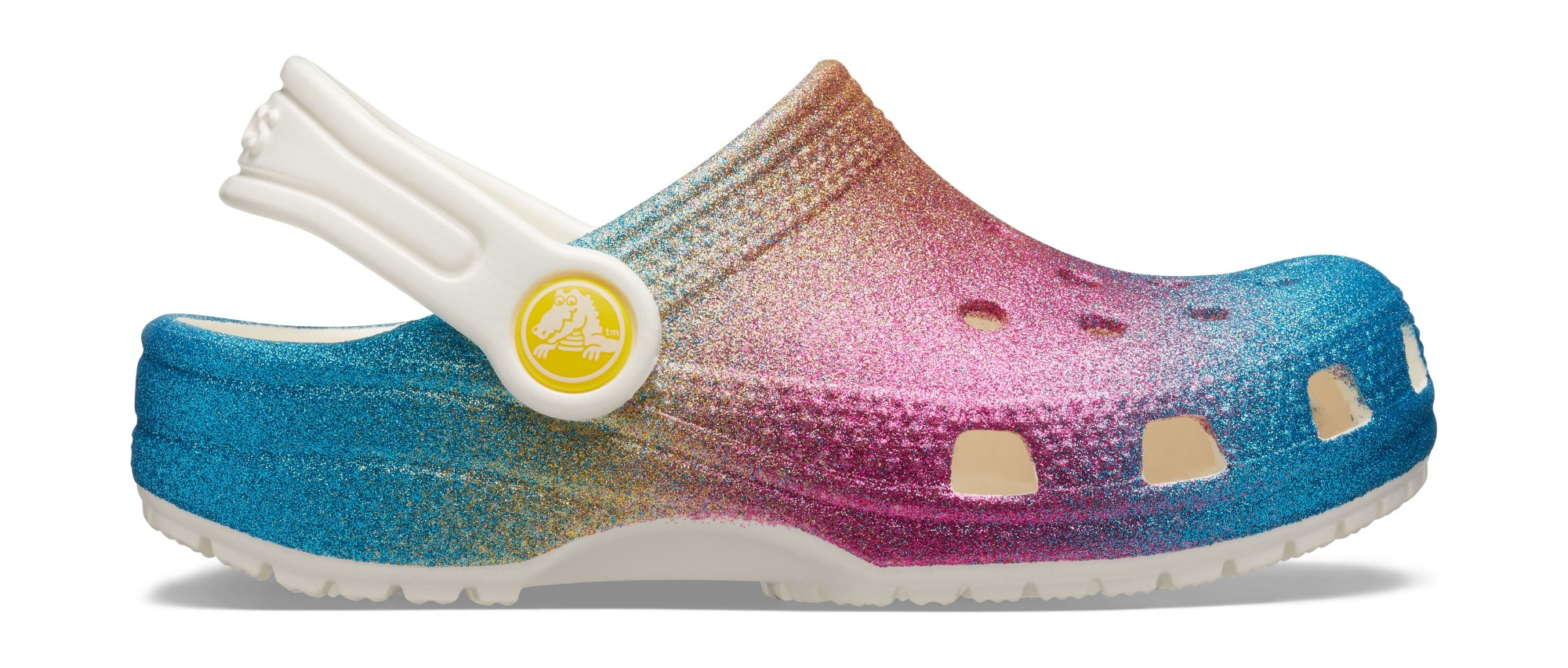 Crocs™ Classic Ombre Glitter Clog Kids Oyster/Multi 28