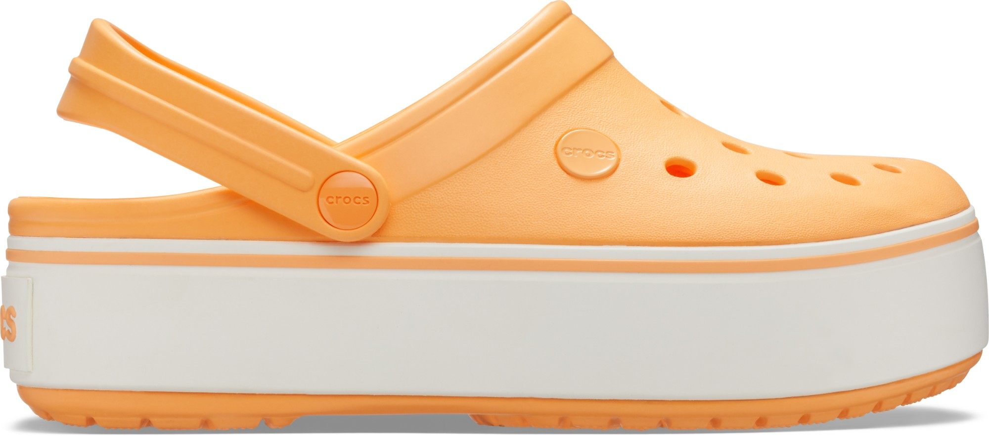 Crocs™ Crocband Platform Clog Cantaloupe/White 38,5