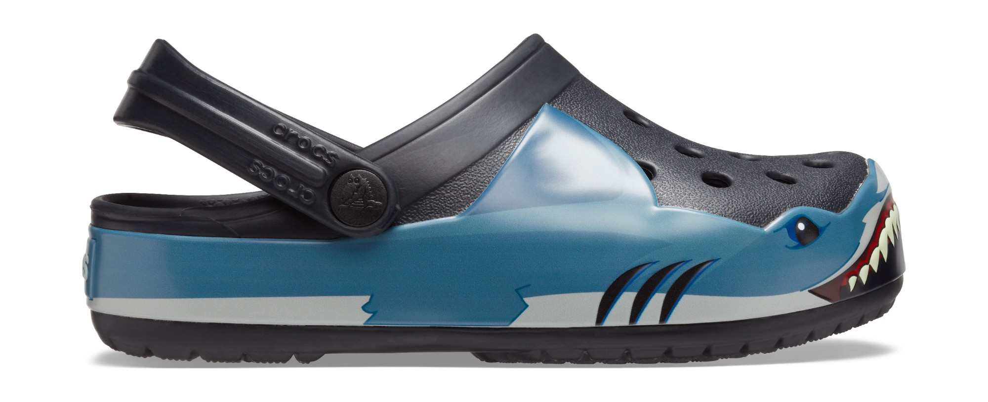Crocs™ Funlab Shark Band Clog Kids Black 30