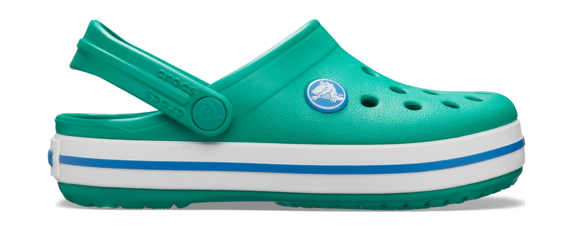 Crocs™ Kids' Crocband Clog Deep Green/Prep Blue 25