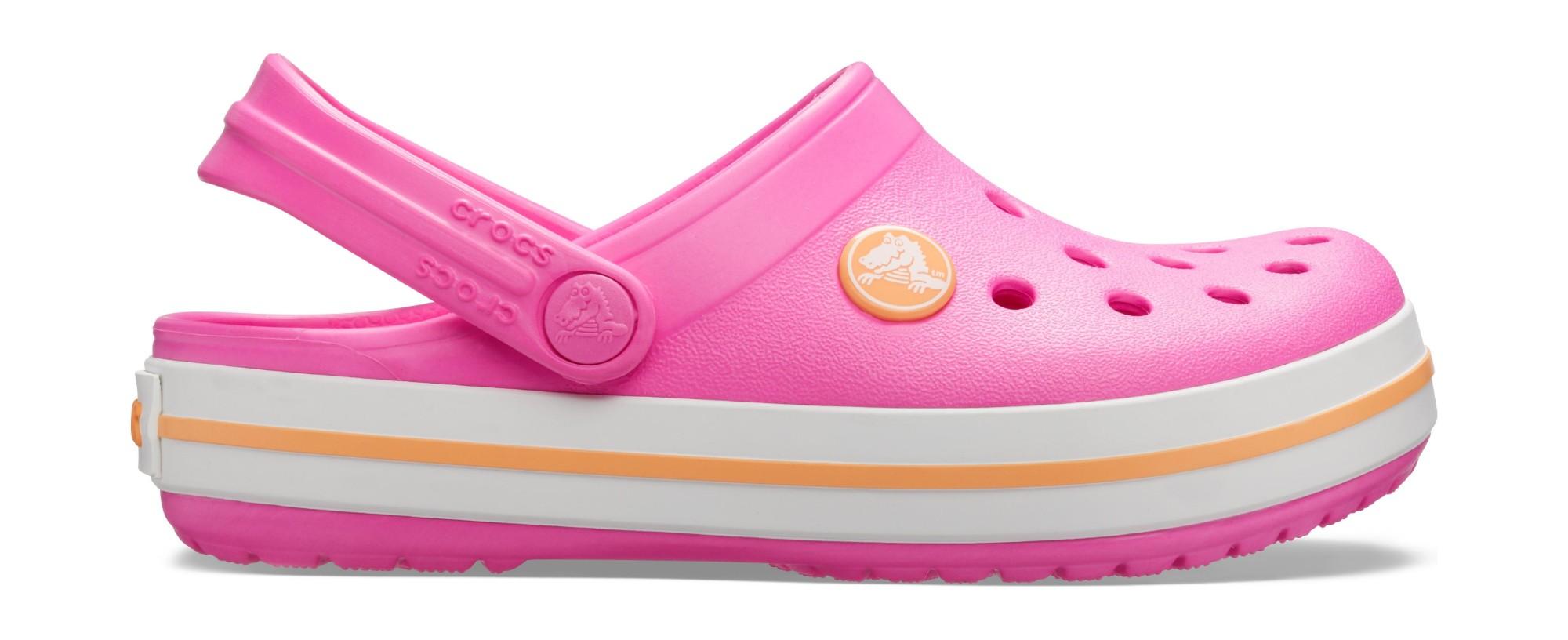 Crocs™ Kids' Crocband Clog Electric Pink/Cantaloupe 36,5