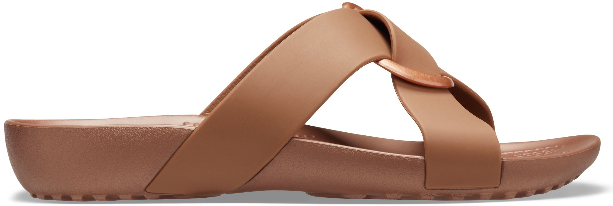 Crocs™ Serena Cross Band Slide Womens Bronze 41
