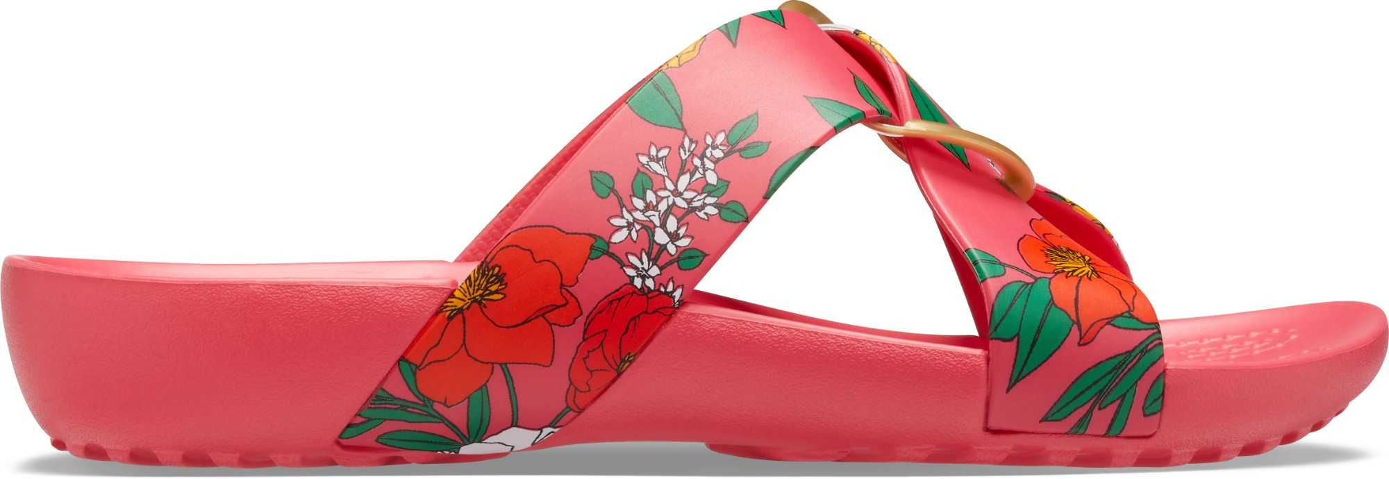 Crocs™ Serena Printed Cross Band Slide Womens Floral/Poppy 42,5