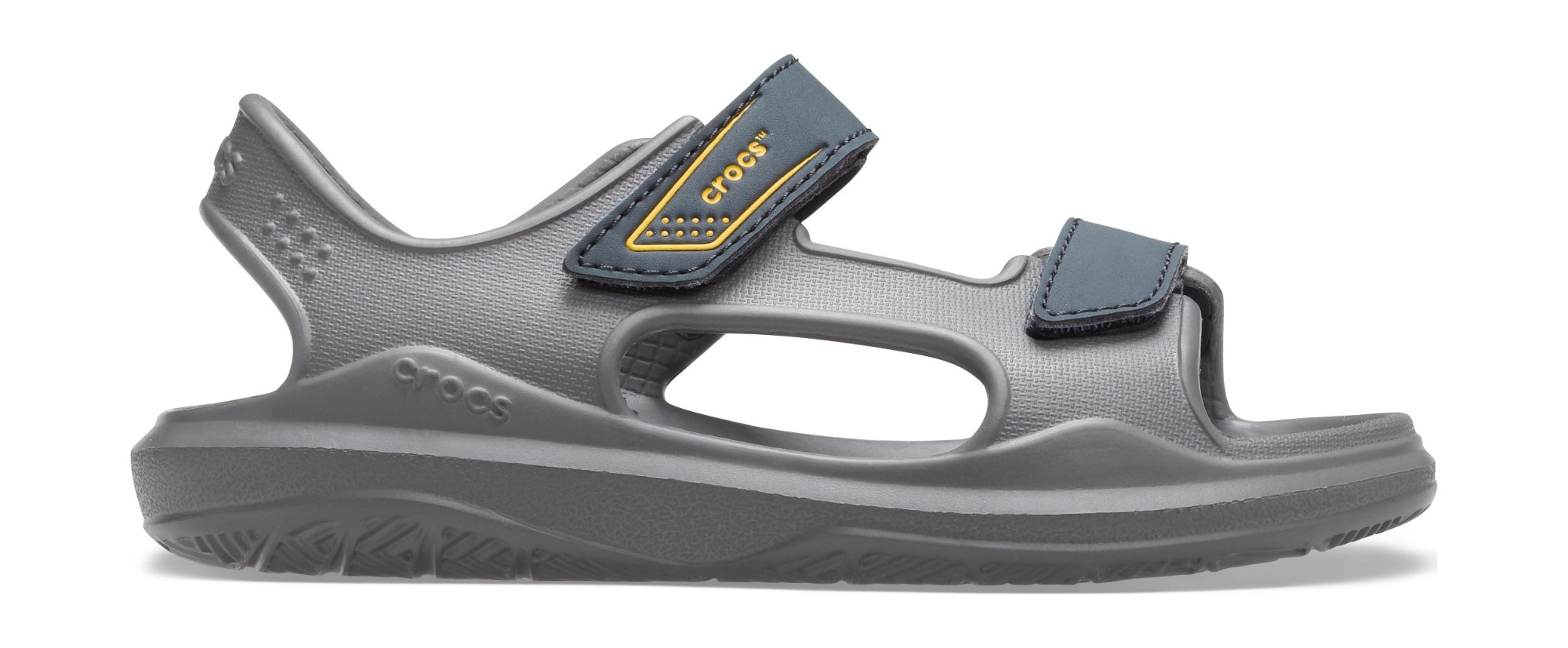 Crocs™ Swiftwater Expedition Sandal Kids Slate Grey/Charcoal 24