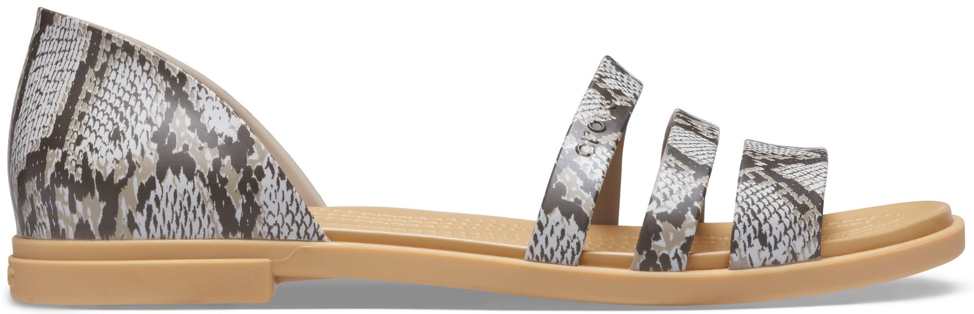 Crocs™ Tulum Open Flat Womens Mushroom/Stucco 38,5