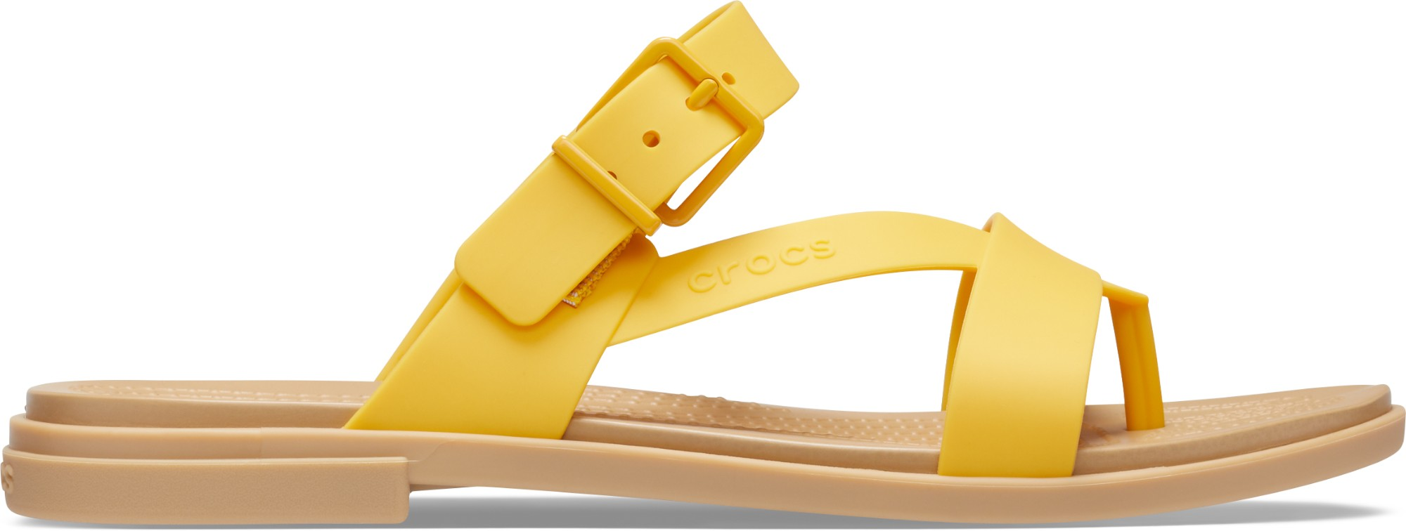 Crocs™ Tulum Toe Post Sandal Womens Canary/Tan 39,5