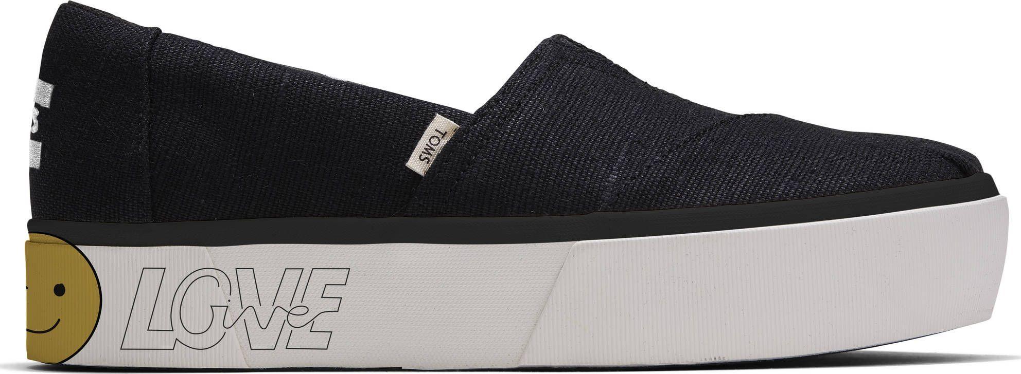 TOMS Heritage Canvas Women's Alpargata Boardwalk Black 10015881 39