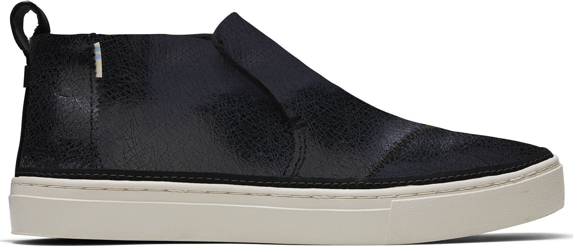 TOMS Metallic Crackle Suede Women's Paxton Slip-On Black 36