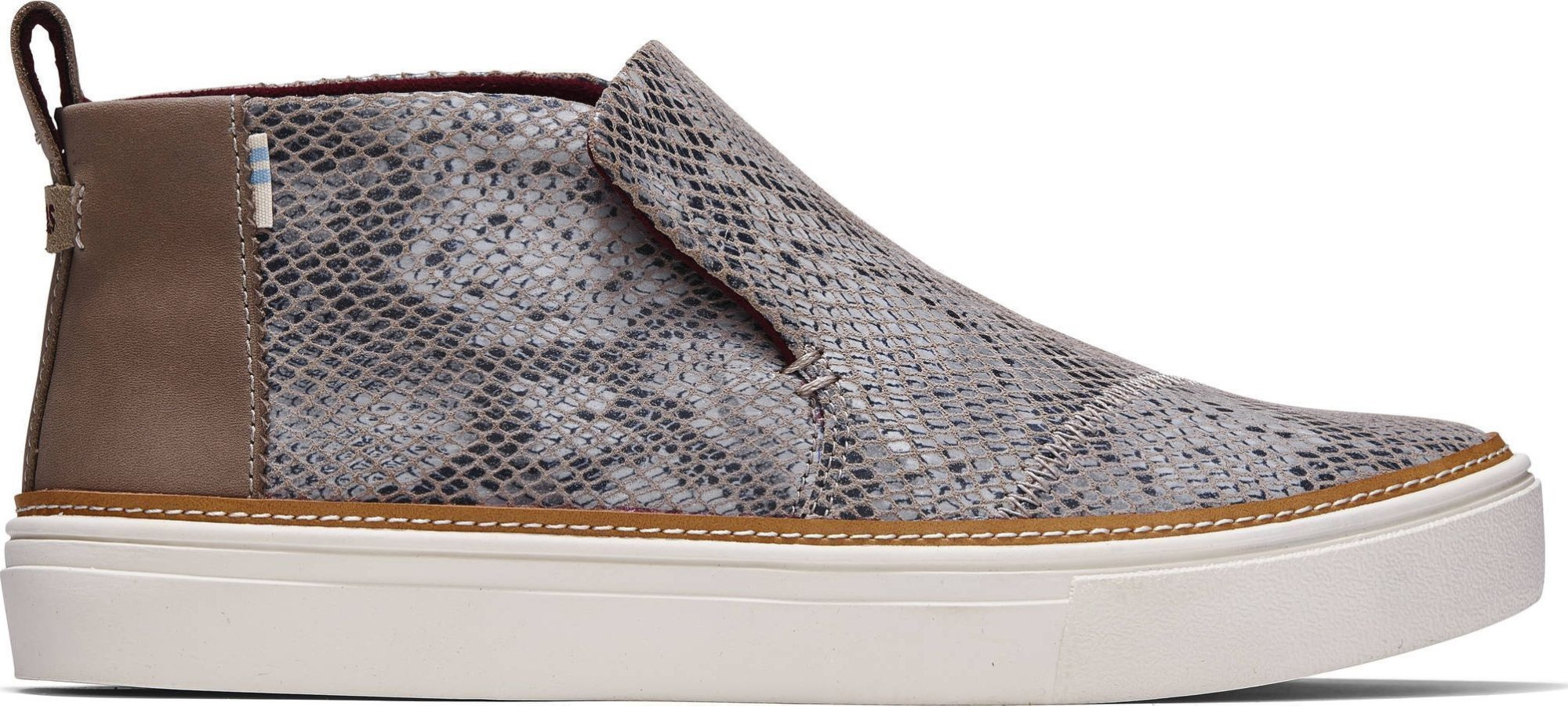 TOMS Snake Printed Suede Women's Paxton Slip-On Cobblestone 38