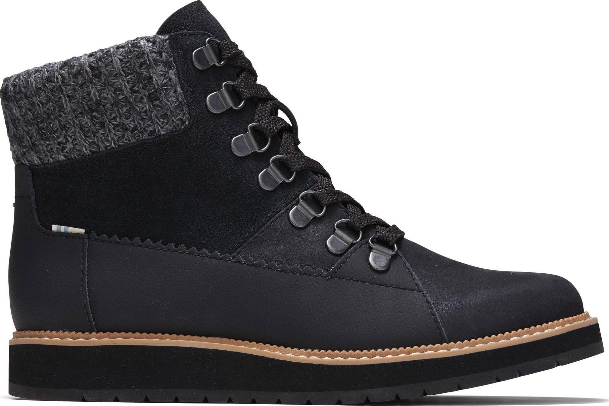 TOMS Waterproof Leather Suede Women's Mesa Black 38
