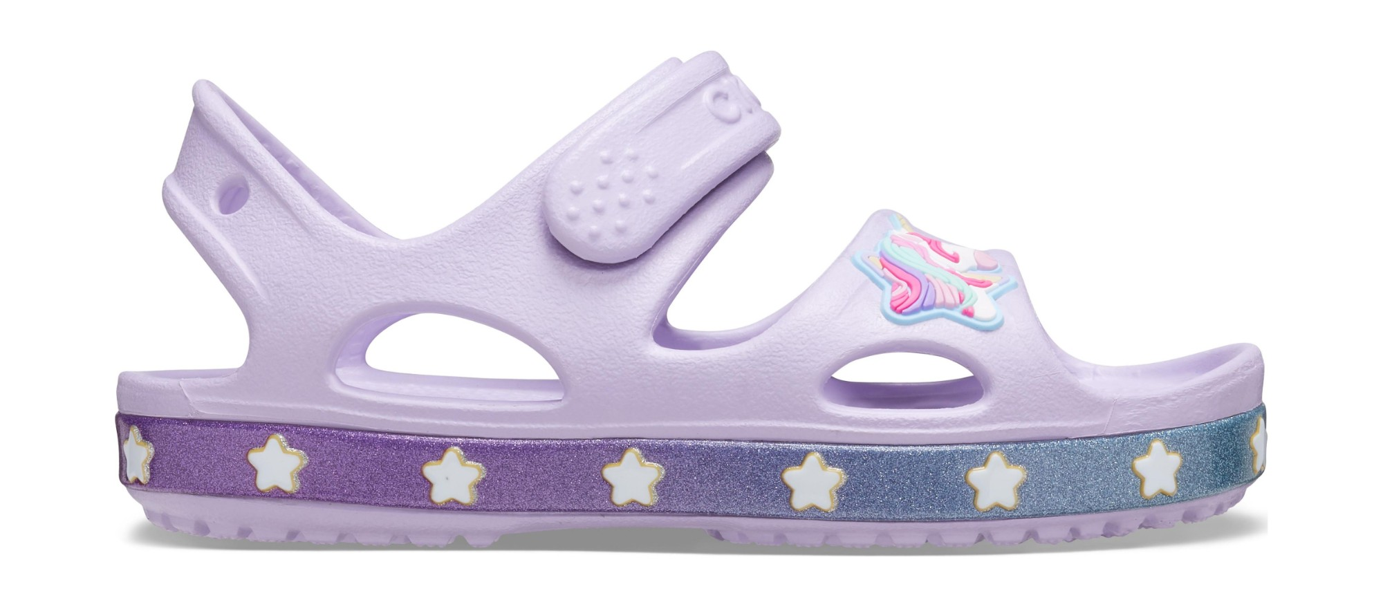 Crocs™ Funlab Unicorn Charm Sandal Kids Lavender 28