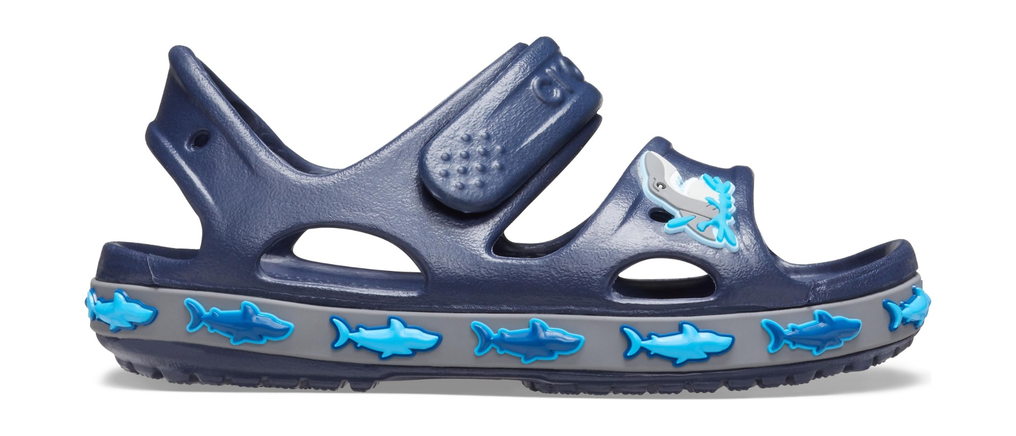 Crocs™ Funlab Shark Band Sandal Kids Navy 24