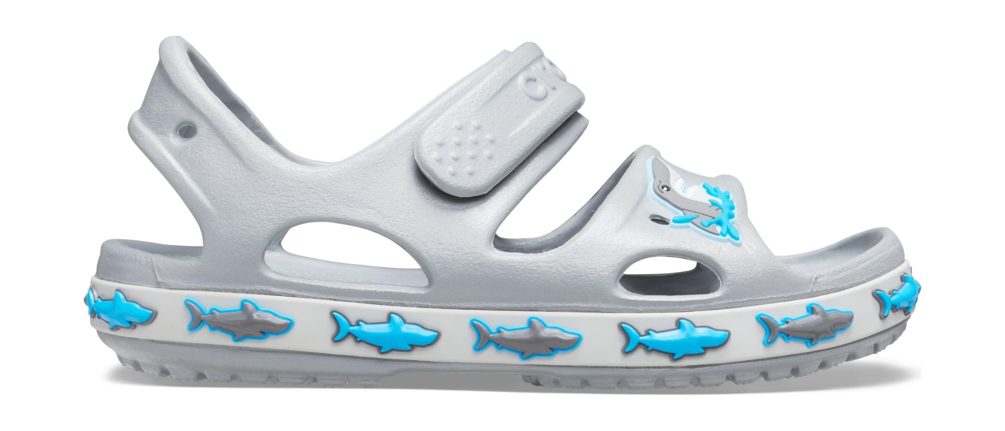 Crocs™ Funlab Shark Band Sandal Kids Light Grey 29