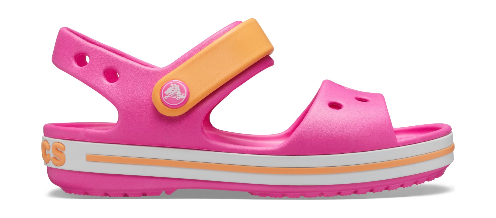 Crocs™ Crocband Sandal Kids Electric Pink/Cantaloupe 29