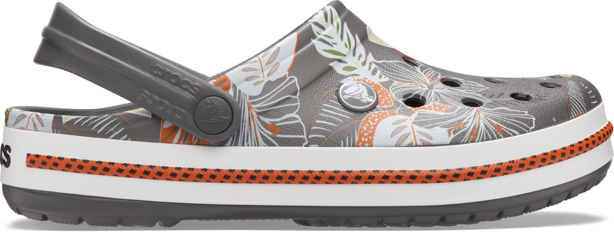 Crocs™ Crocband Botanical Print Clog Slate Grey/White 38,5