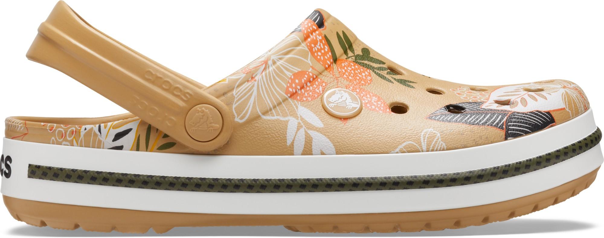 Crocs™ Crocband Botanical Print Clog Tan/White 36,5