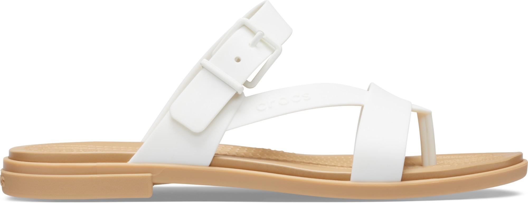 Crocs™ Tulum Toe Post Sandal Womens Oyster/Tan 39,5